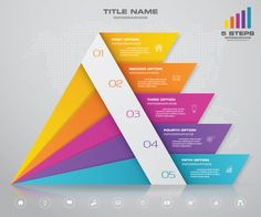 Pyramid with free space for text on each. Infographic Powerpoint, Infographic Templates, Presentation Skills, Presentation Design, Employee Handbook, Web Design, Powerpoint Template Free, Adobe Illustrator Tutorials, Free Space