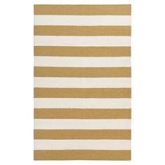 Frontier Wasabi/Pale Blue Striped Area Rug | Joss & Main