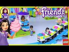 Lego Friends Amusement Park Ferris Wheel Roller Coaster Part 2 Build Review Silly Play - Kids Toys - YouTube