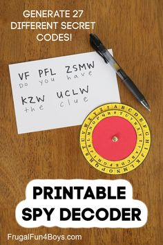 Code Activity for Kids: Make a Spy Decoder Wheel - Frugal Fun For Boys and Girls