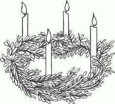 Advent Wreath Printable Coloring Pages Sketch Coloring Page