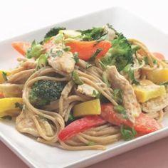 Peanut Noodles with Shredded Chicken & Vegetables - EatingWell.com
