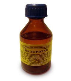 Купить клей дихлорэтан в Киеве по приятной цене. Доставка по Украине. Экономичная емкость - 30 мл. Любое количество. Растворитель дихлорэтан для пластмассы.