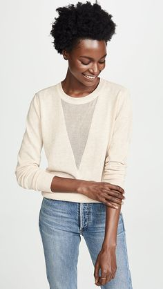 Line & Dot Mia Contrast Sweater | SHOPBOP | The Style Event, Up to 25% Off On Must-Have Pieces From Top Designers