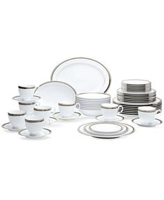Make the occasion memorable with the Austin Platinum dinnerware set from…