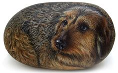 Custom Dog Portraits Hand Painted on Natural by RobertoRizzoArt