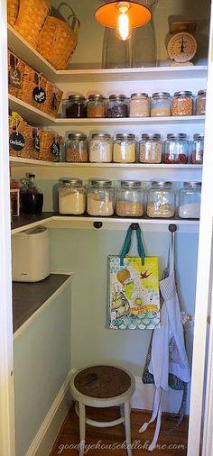 Beautiful organized pantry!