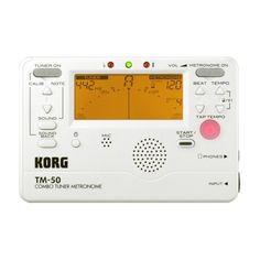 Korg TM-50 stemmer/metronom (perlehvit) hos Gear4music.com