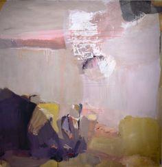 "Madeline Denaro: ""Plum Loco"", 2011. (acrylic with polymers on canvas -- 65"" x 63"")"