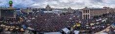 Panorama of Ukrainian protesters  #euromaidan #євромайдан