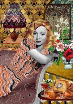 Kathrin Kuhn fashion collage | Fashionary Hand