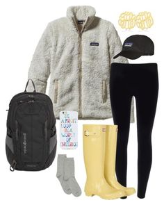 Perfect outfit for going to class - I love that patagonia zip up!