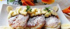 Lahodné lívance s banánem Kefir, French Toast, Breakfast, Food, Morning Coffee, Essen, Yemek, Morning Breakfast, Eten