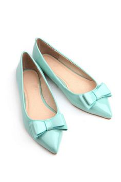 Bowknot Pointed Ballet Flats