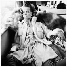 Veruschka in mink jacket by Emeric Partos, photo by Richard Avedon on ...the detailing on the pants :):)