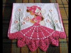 paso a paso puntillas con flores tejidas para servilletas - Buscar con Google