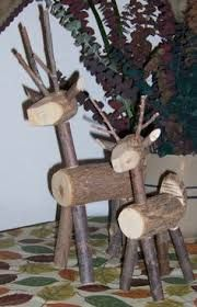 wood deer out of logs - Google Search