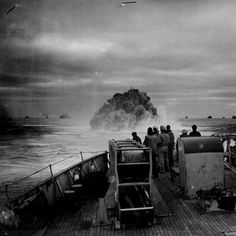 Boom! Up comes a depth charge explosion as seen from the deck of USCGC Spencer. Today in WW2 history 4/17/45. 500 nautical miles WSW of Ireland in the North Atlantic. www.worldwar2tours.com