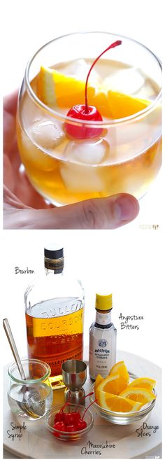 How to make an Old Fashioned Cocktail -- a step-by-step guide to making this classic drink | gimmesomeoven.com #cocktail #drink http://samscutlerydepot.com/product/saber-prime-pronto-magnetic-8-pc-magnetic-wood-block-and-cutlery-set/