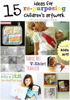 15 Ideas for Repurposing Children's Artwork I OneKriegerChick.com