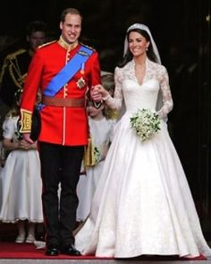 On their wedding day. I'm sure Diana was watching from heaven and smiling.