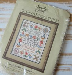 Counted Cross Stitch Sampler to Finish 12 by VintageSouthernPicks