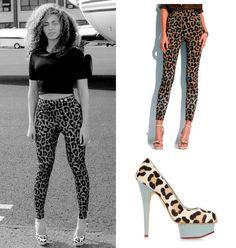 Beyoncé Was Wearing Mathew Zink Leopard Pants ( $ 290 ) & Charlotte Olympia Polly Leopard Pumps ( $ 990 )