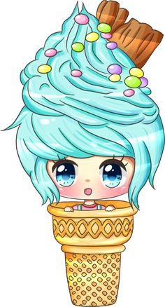 Old Point Commission for well.i forgot the name of her OC Cute Anime Chibi, Kawaii Chibi, Kawaii Doodles, Kawaii Art, Kawaii Anime, Kawaii Girl Drawings, Cute Food Drawings, Cute Animal Drawings Kawaii, Girl Cartoon