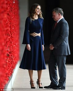 She's widely regarded as one of the world's most beautiful royals, and Queen Rania of Jordan (pictured) has looked as glamorous as ever during her tour of Australia.