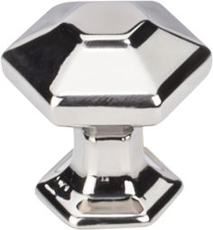 """Spectrum series Transcend Collection Polished Nickel 1"""" Knob from Top Knobs. Item # TK711PN"""