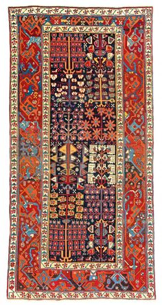 kurdish Tree carpet Persia, first half 19th century 10ft. 2in. x 5ft. 0in.
