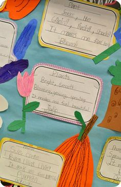 Springtime Cinquain Writing - could write about plants or butterflies!