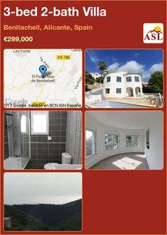 3-bed 2-bath Villa in Benitachell, Alicante, Spain ►€299,000 #PropertyForSaleInSpain
