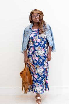 slip dress | floral dress | maternity dress | pregnancy fashion