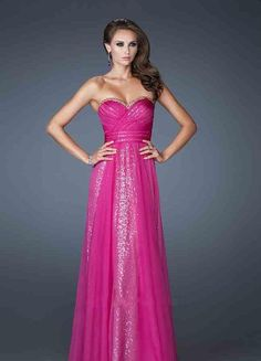f36e967afbc Embellished Sweetheart Sleeveless Fuchsia Natural A-Line Prom Dress In  Stock prom dress prom dress prom dresses