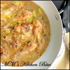 MM's Kitchen Bites: Chicken with Leeks in a Creamy Mustard Sauce...faster than Bolt!