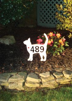 GARDENmarx address signs for your front yard or by GARDENmarx, $30.00