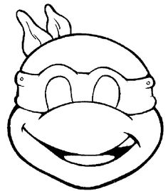 masque tortue ninja découpage a imprimer
