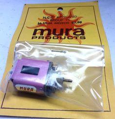 Mura brand slot car motor, still in the original packaging.