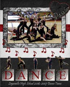 Dance Like No One Is Watching... : Gallery : A Cherry On Top School Scrapbook, Kids Scrapbook, Scrapbook Page Layouts, Scrapbooking Ideas, Dance Senior Pictures, Dance Photos, Dance Studio Design, Dance Team Gifts, Dance Themes