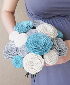 Felt rose bouquet! - We can hang it in our home for the rest of our loving life together! -P