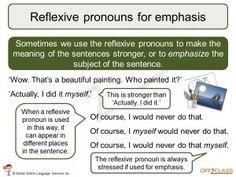 possessive, reflexive and reciprocal pronouns