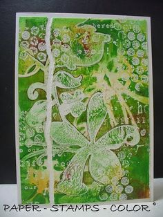 PAPER - STAMPS - COLOR: Warning ! Put on your sunglasses for these greens!