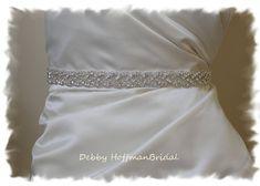 Rhinestone Wedding Bridal Belt Wedding Dress by DebbyHoffmanBridal, $54.00