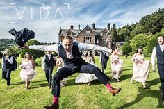 Leaping groomsman at Buckland hall. There's always one!