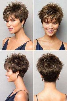 20 Beautiful Pixie Cuts For Older Women - Hair Beauty Funky Short Hair, Short Choppy Hair, Short Thin Hair, Short Haircut Styles, Short Grey Hair, Short Hairstyles For Thick Hair, Haircuts For Fine Hair, Haircut For Thick Hair, Short Pixie Haircuts