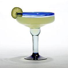 Rocco Blue Margarita Glass, Set of 4 | Drinkware| Kitchen & Dining | World Market