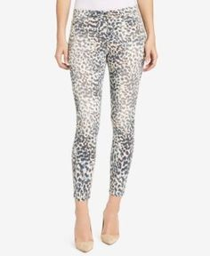 William Rast Printed Skinny Ankle Jeans - Brown 24