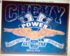 Chevy Power Tin Sign 2199
