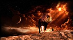 Lions in the fantasy landscape / 1920 x 1080 / Fantasy, Animals ...